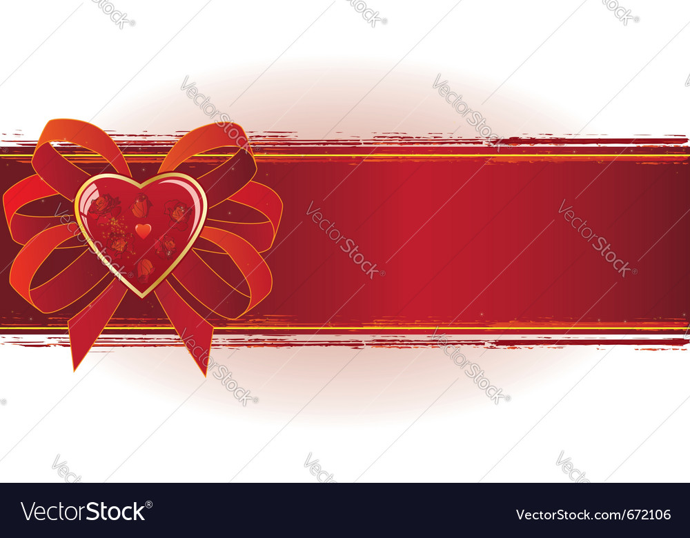 Valentine banner vector | Price: 1 Credit (USD $1)