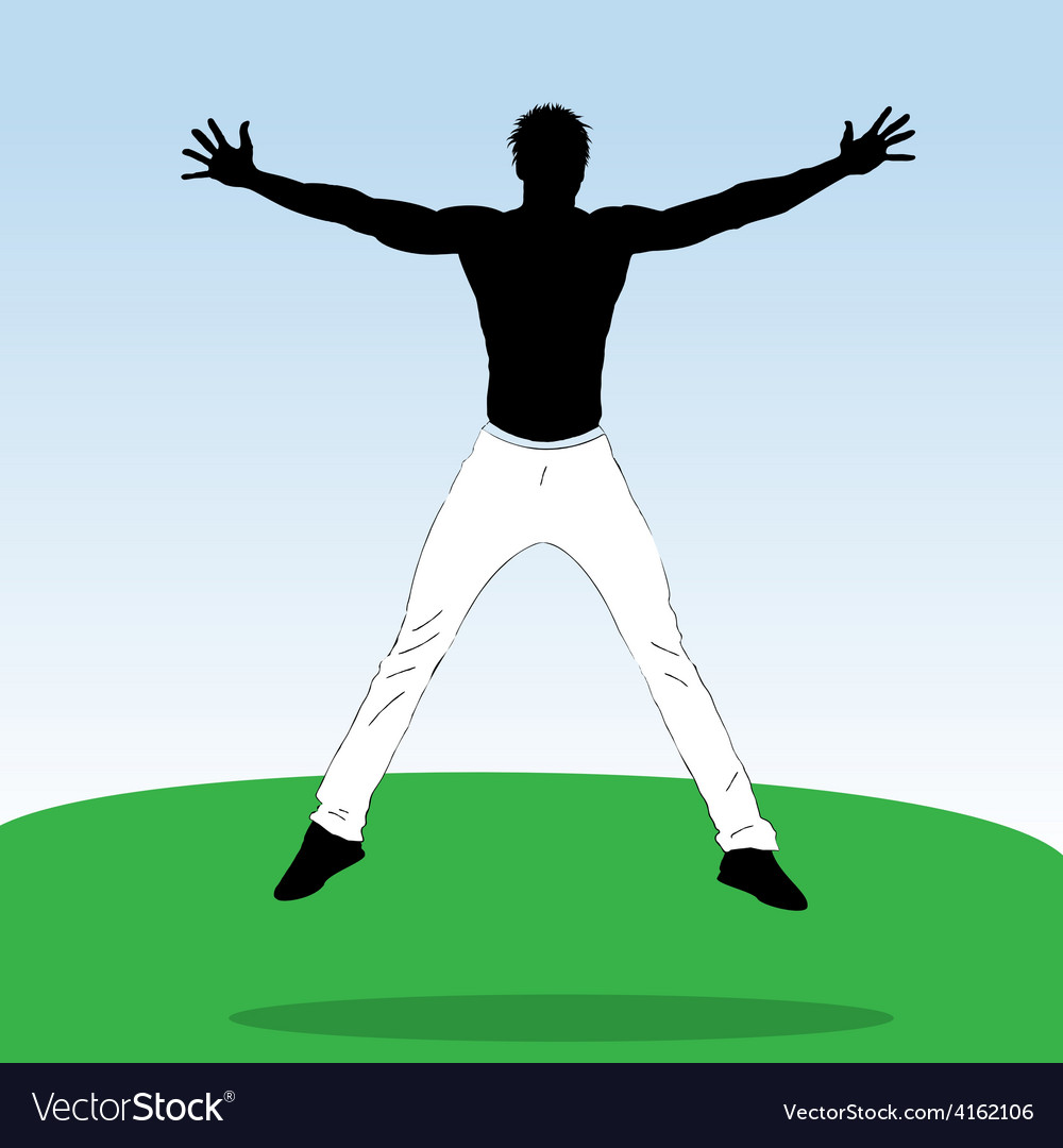 Young jumping athlet vector | Price: 1 Credit (USD $1)