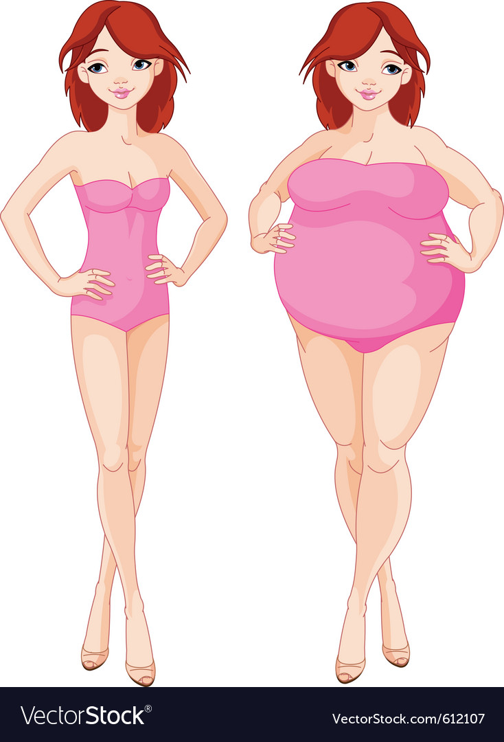Before and after diet vector | Price: 3 Credit (USD $3)