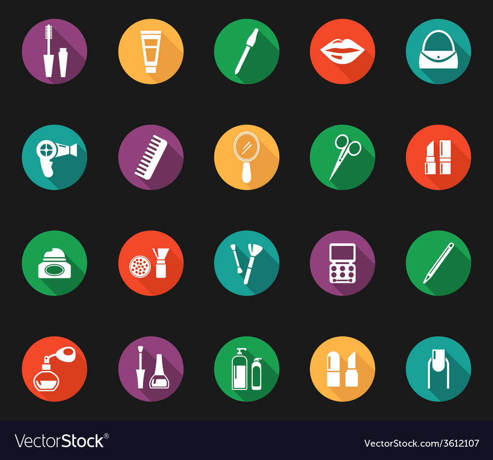 Colorful hygiene and grooming graphic symbols vector | Price: 1 Credit (USD $1)