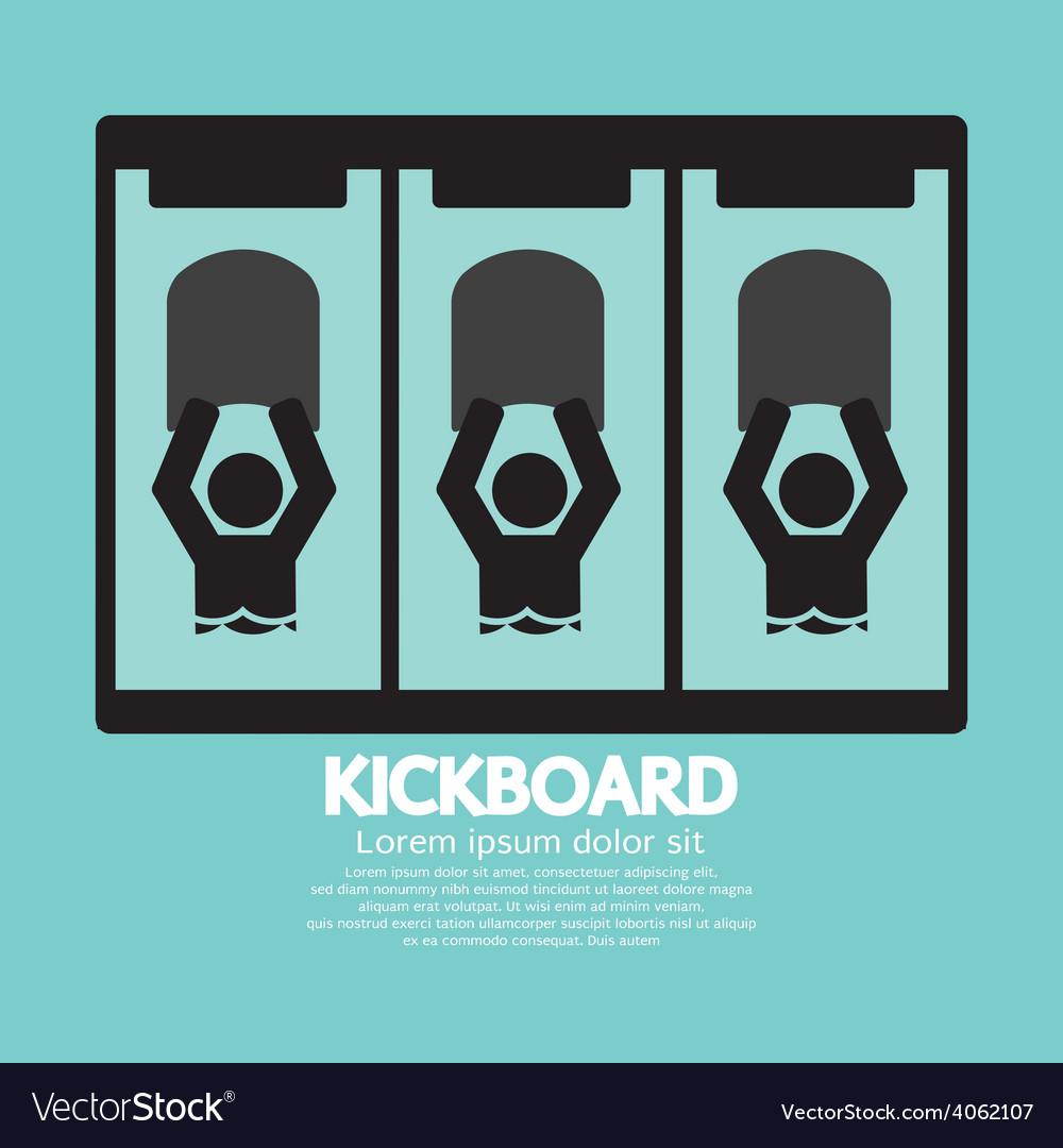 Kick board black symbol vector | Price: 1 Credit (USD $1)