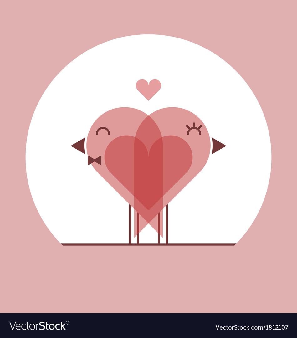 Lover birds - valentines day card vector | Price: 1 Credit (USD $1)