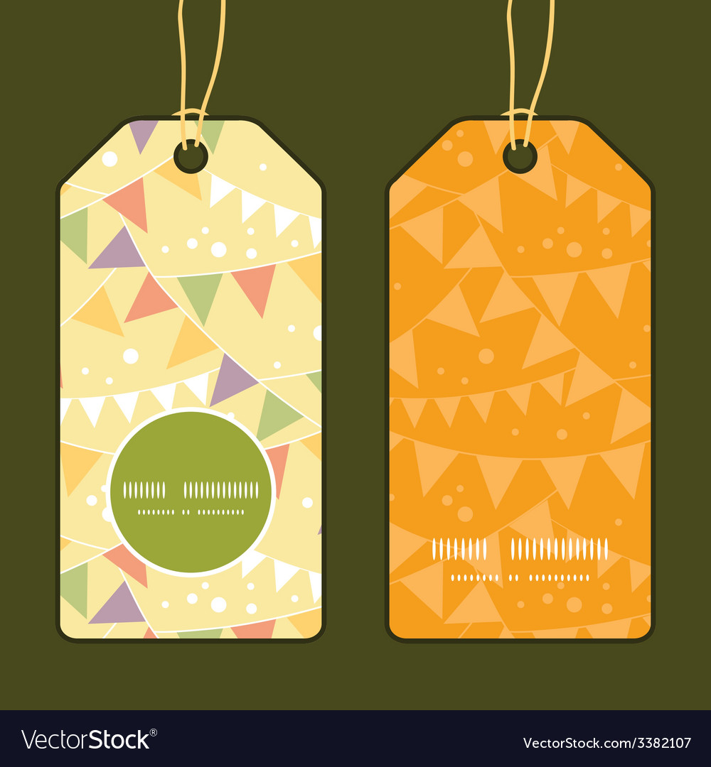 Party decorations bunting vertical round frame vector | Price: 1 Credit (USD $1)