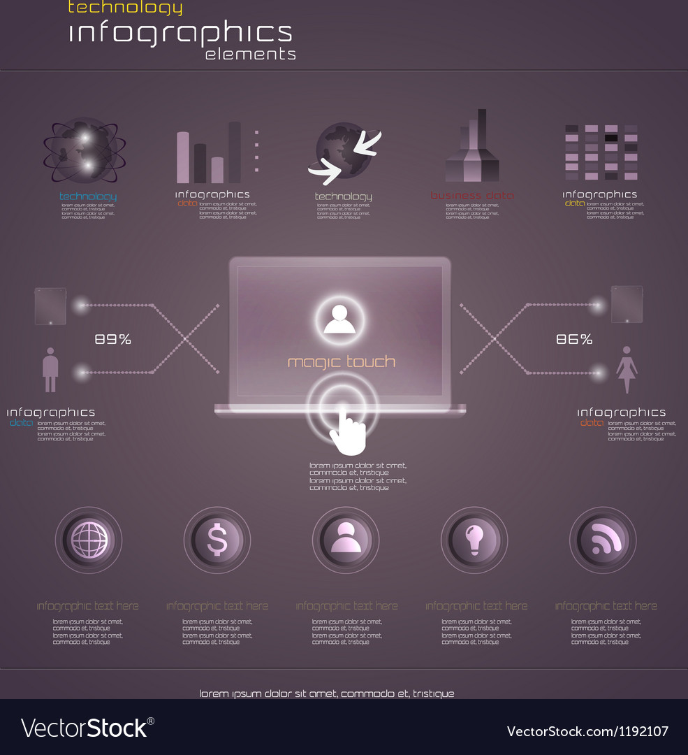 Purple infograph vector | Price: 1 Credit (USD $1)