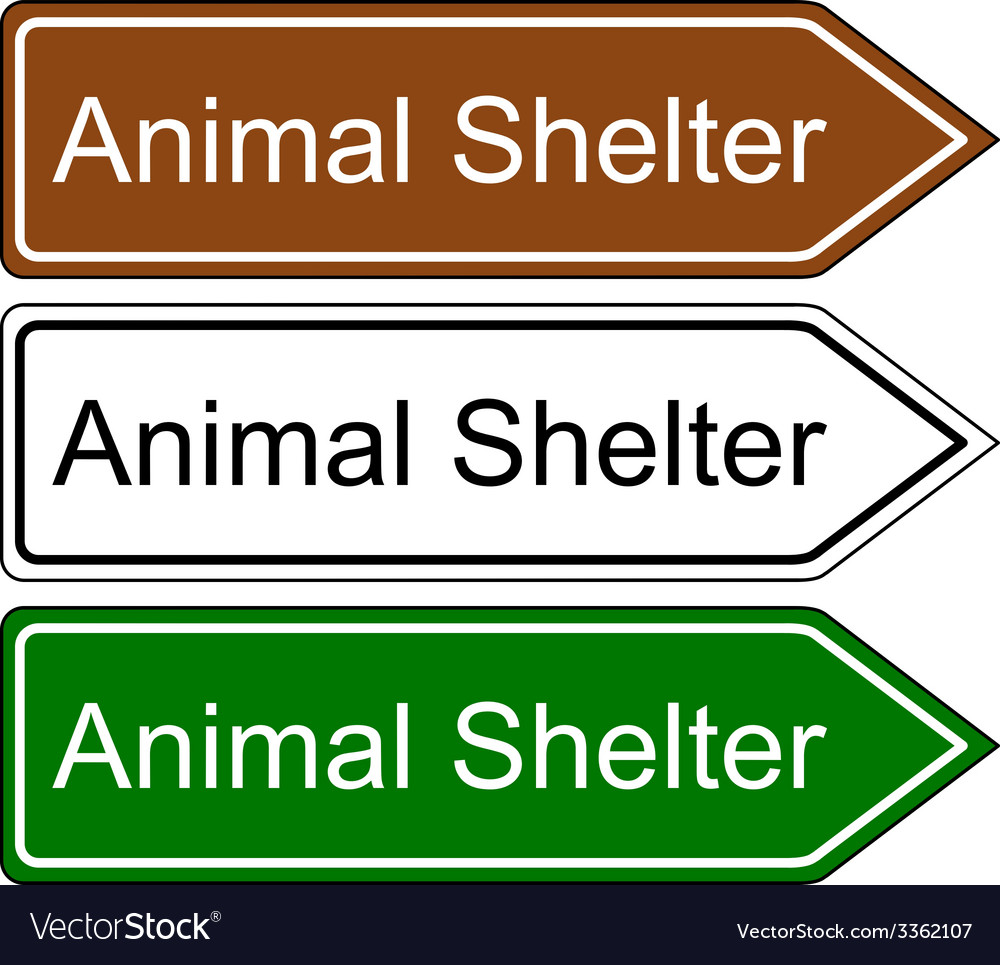 Sign animal shelter vector | Price: 1 Credit (USD $1)