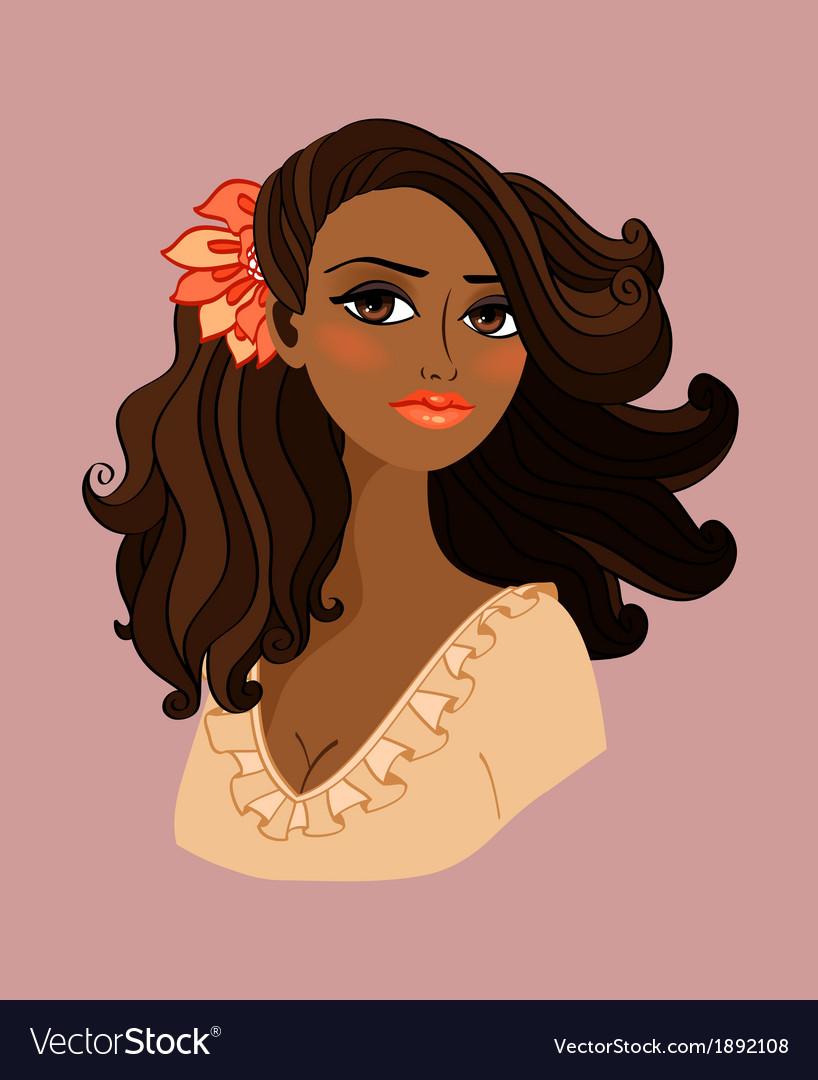 Black woman portrait vector | Price: 1 Credit (USD $1)
