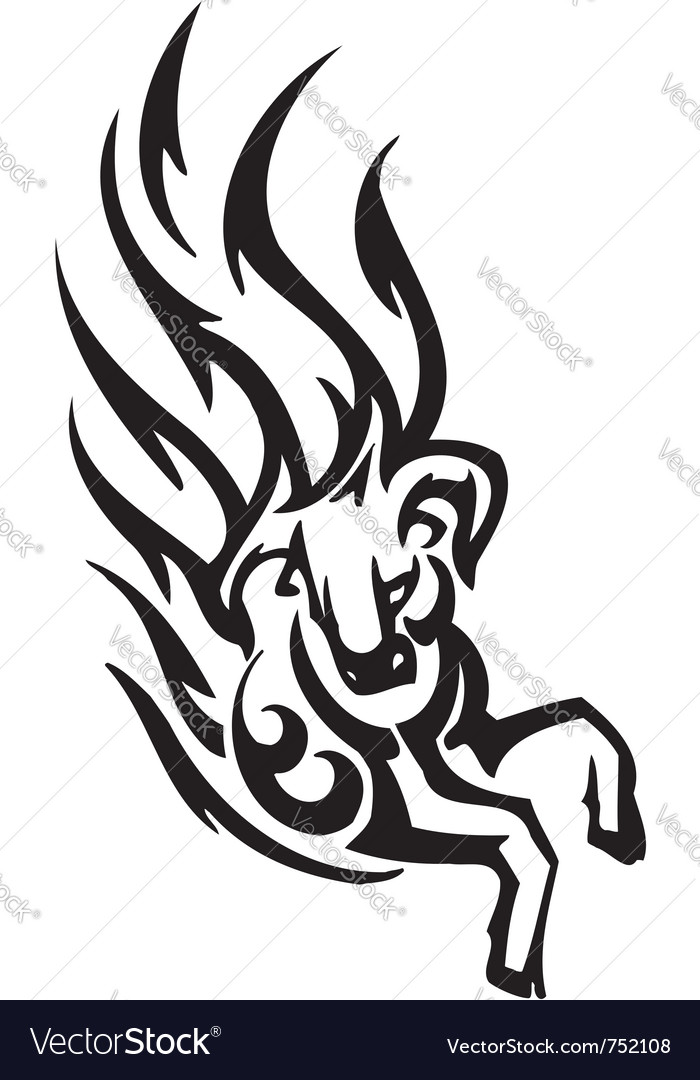 Bull in tribal style - image vector | Price: 1 Credit (USD $1)