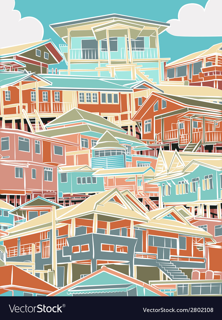 Colorful housing vector | Price: 1 Credit (USD $1)