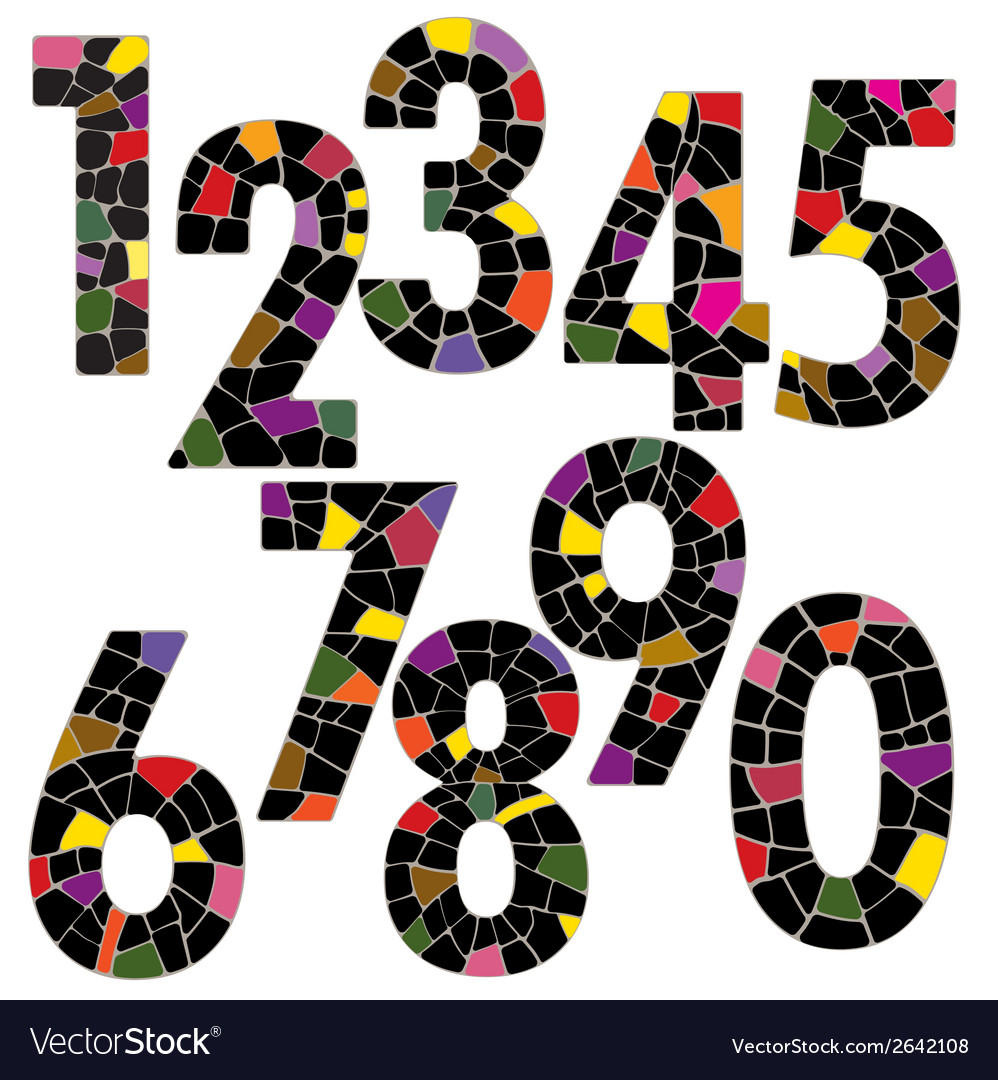 Creative brick number alphabet font style vector | Price: 1 Credit (USD $1)