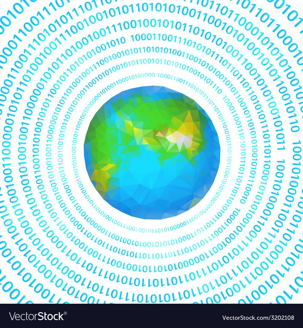 Digital earth vector | Price: 1 Credit (USD $1)