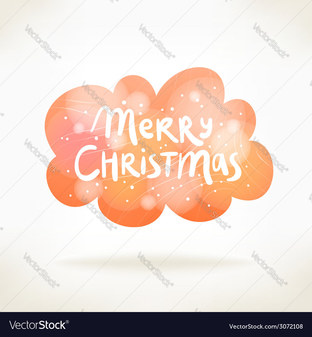 Merry christmas colorful cloud card vector | Price: 1 Credit (USD $1)