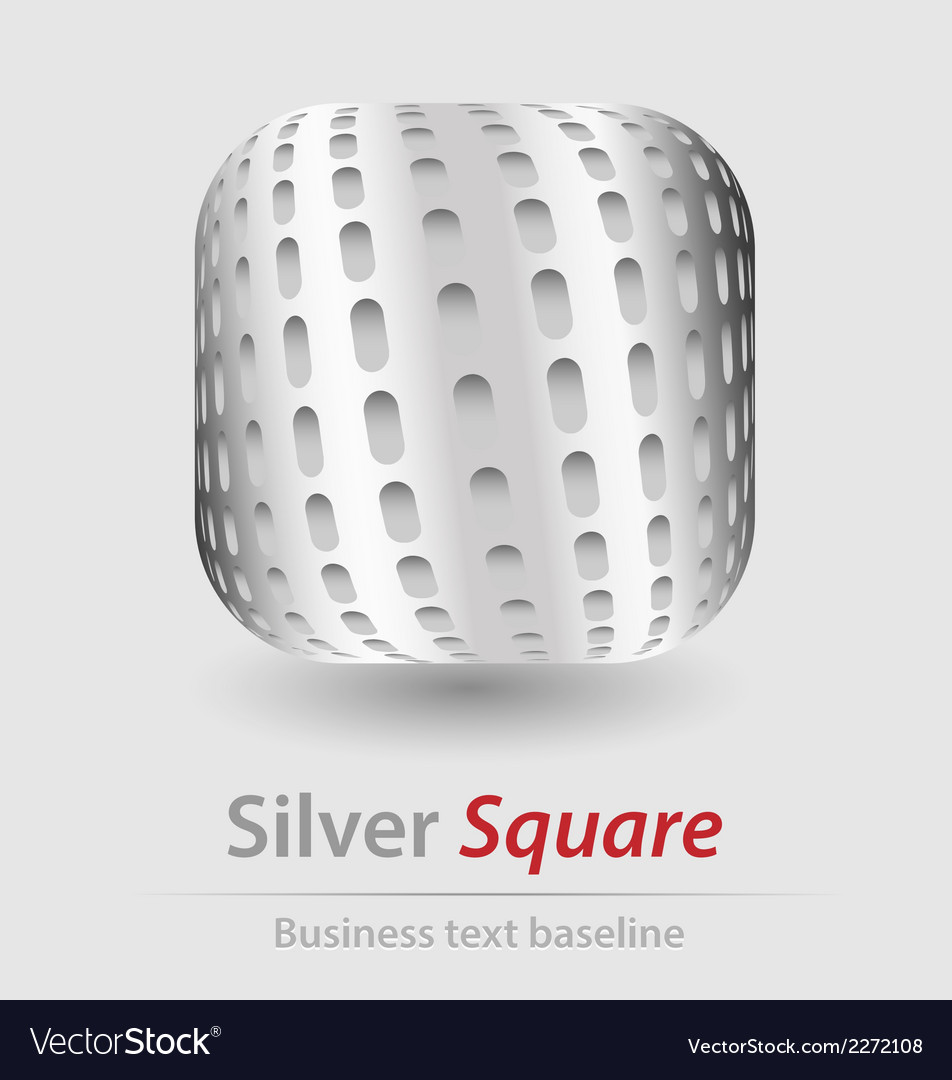 Silver square elegant icon vector | Price: 1 Credit (USD $1)