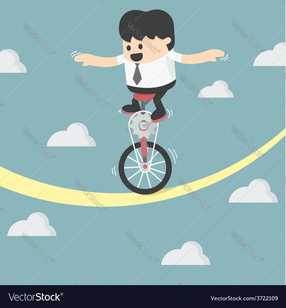 Businessman balancing vector | Price: 1 Credit (USD $1)