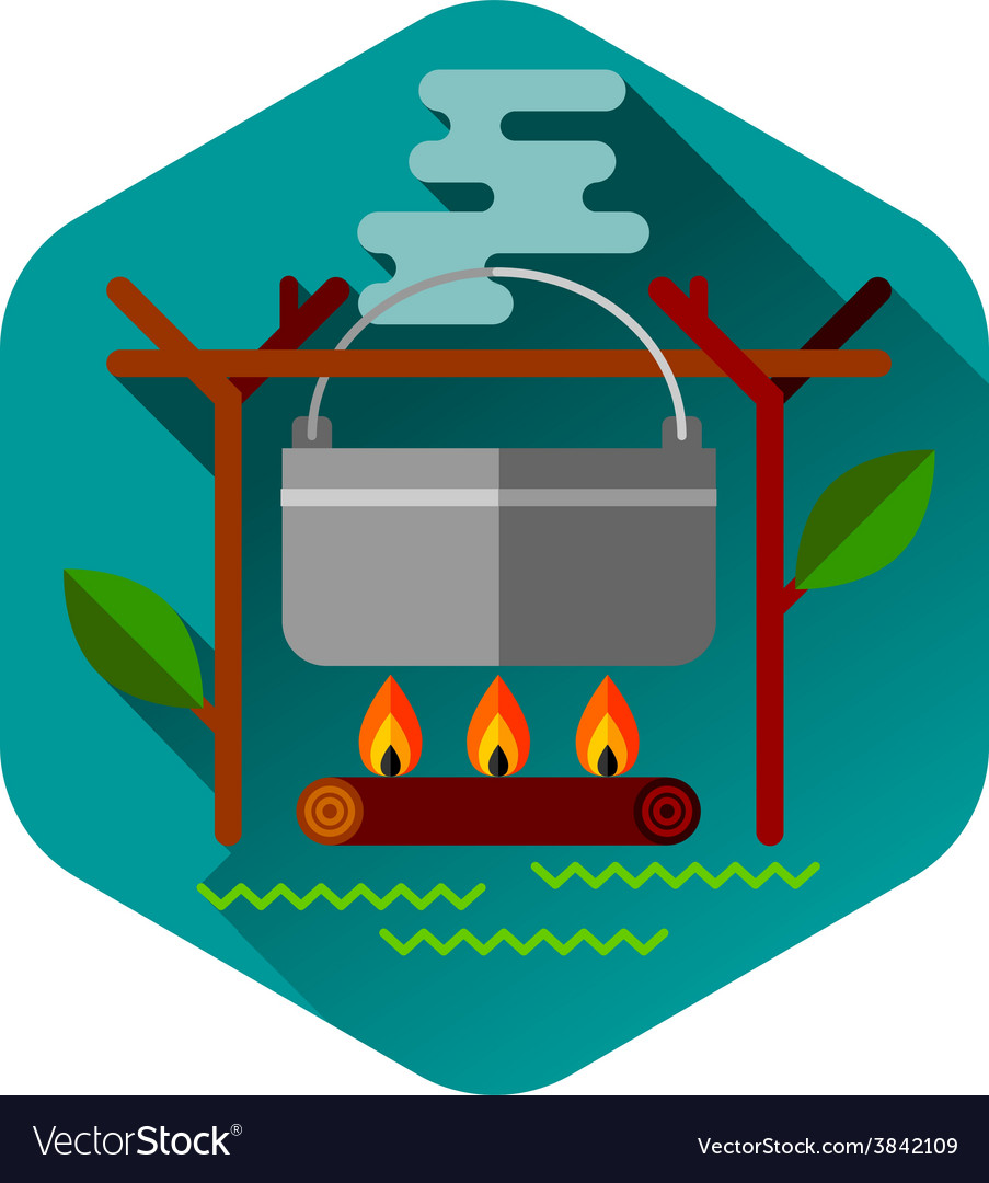 Camping summer outdoor activity concept equipment vector | Price: 1 Credit (USD $1)