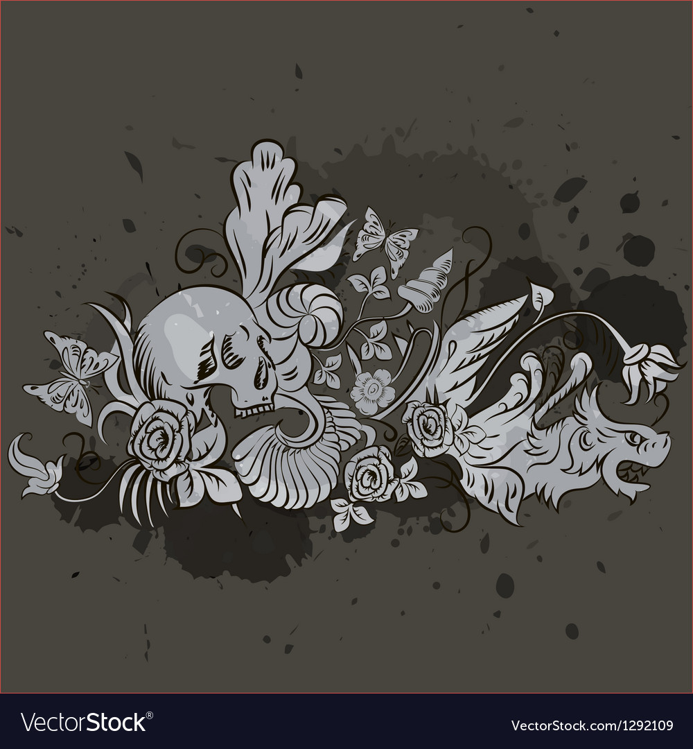 Grunge skull design vector | Price: 1 Credit (USD $1)