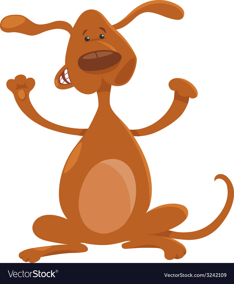 Happy playful standing dog cartoon vector | Price: 1 Credit (USD $1)
