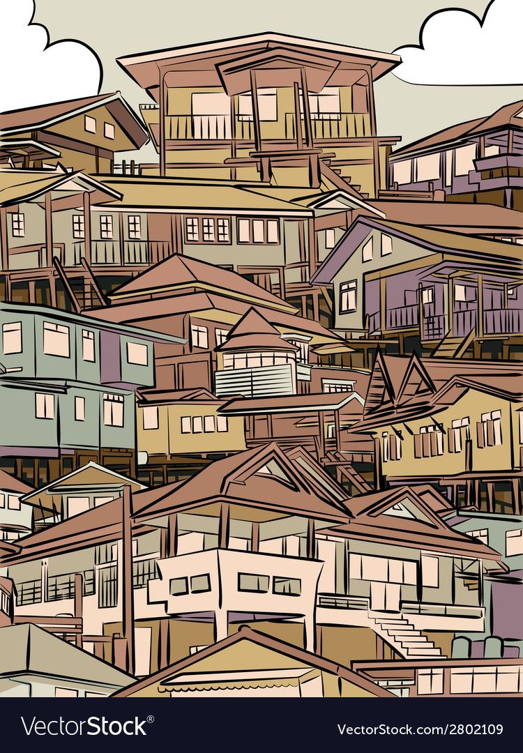 Jumbled housing vector | Price: 1 Credit (USD $1)