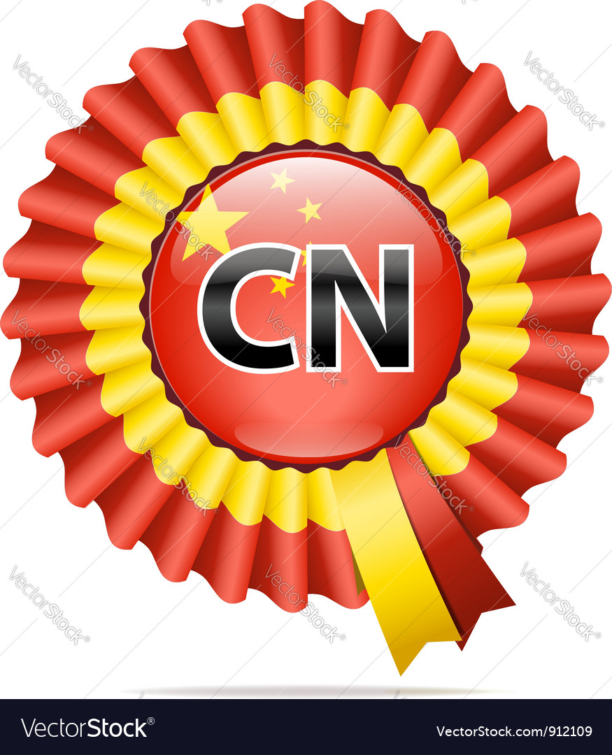 National flag badge cn vector | Price: 3 Credit (USD $3)