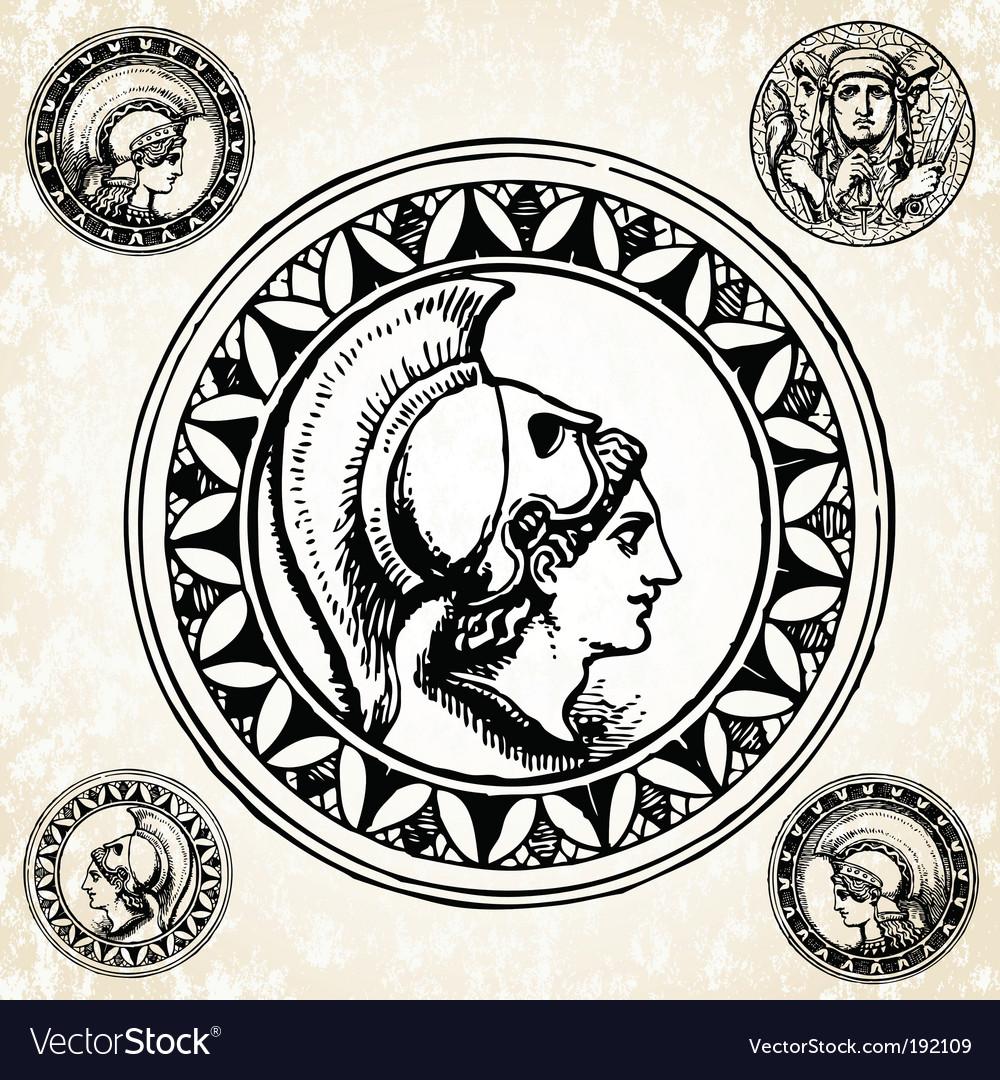 Roman soldier seals vector | Price: 1 Credit (USD $1)