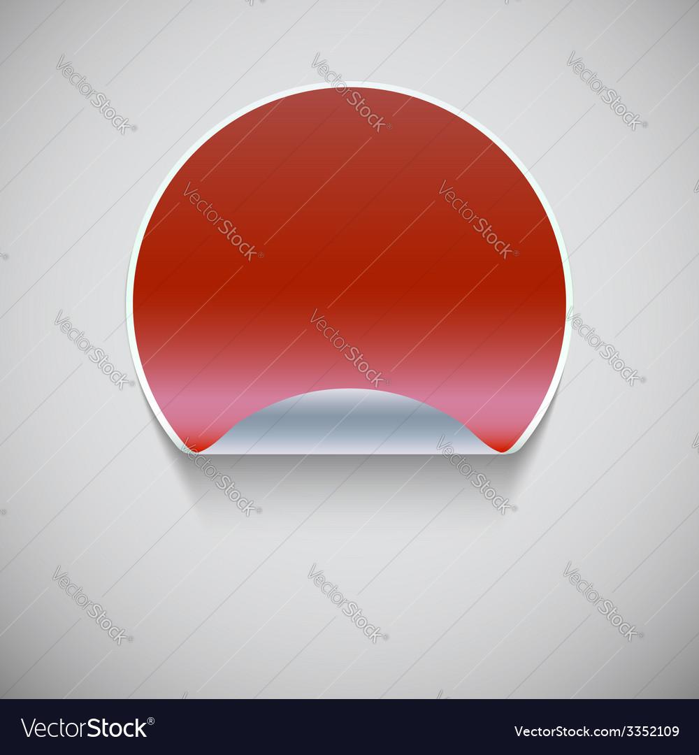 Round red sticker vector | Price: 1 Credit (USD $1)