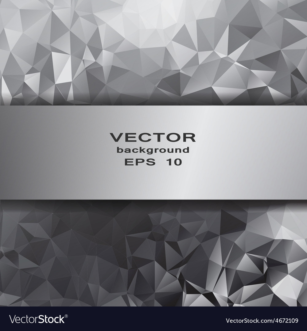 Silver crystal abstract pattern business design vector