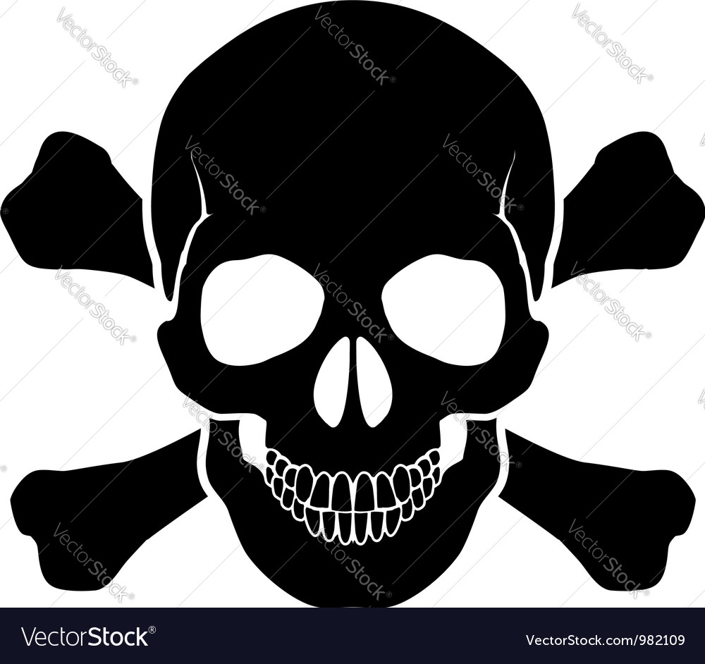 Skull and bones vector | Price: 1 Credit (USD $1)