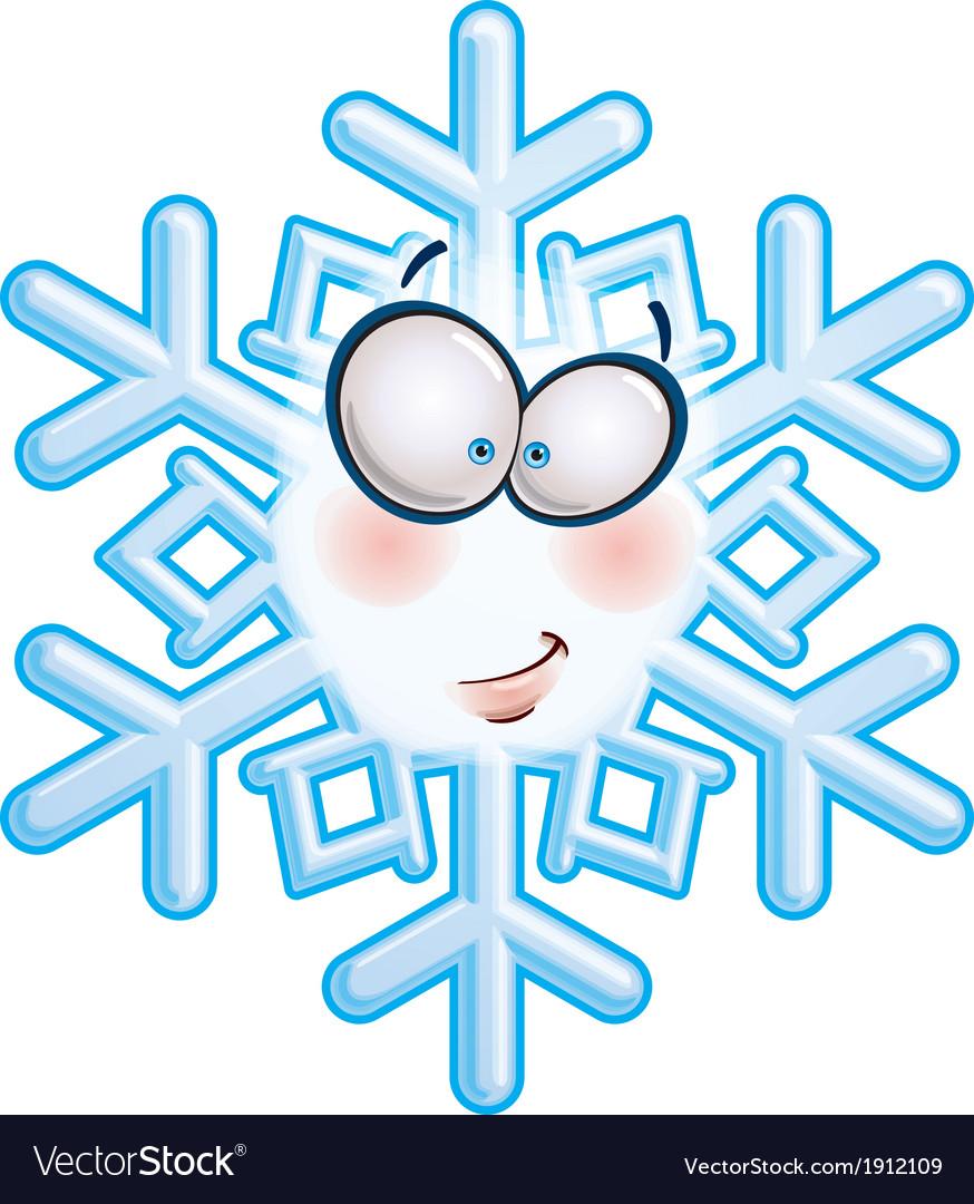 Snowflake head smirk vector | Price: 1 Credit (USD $1)