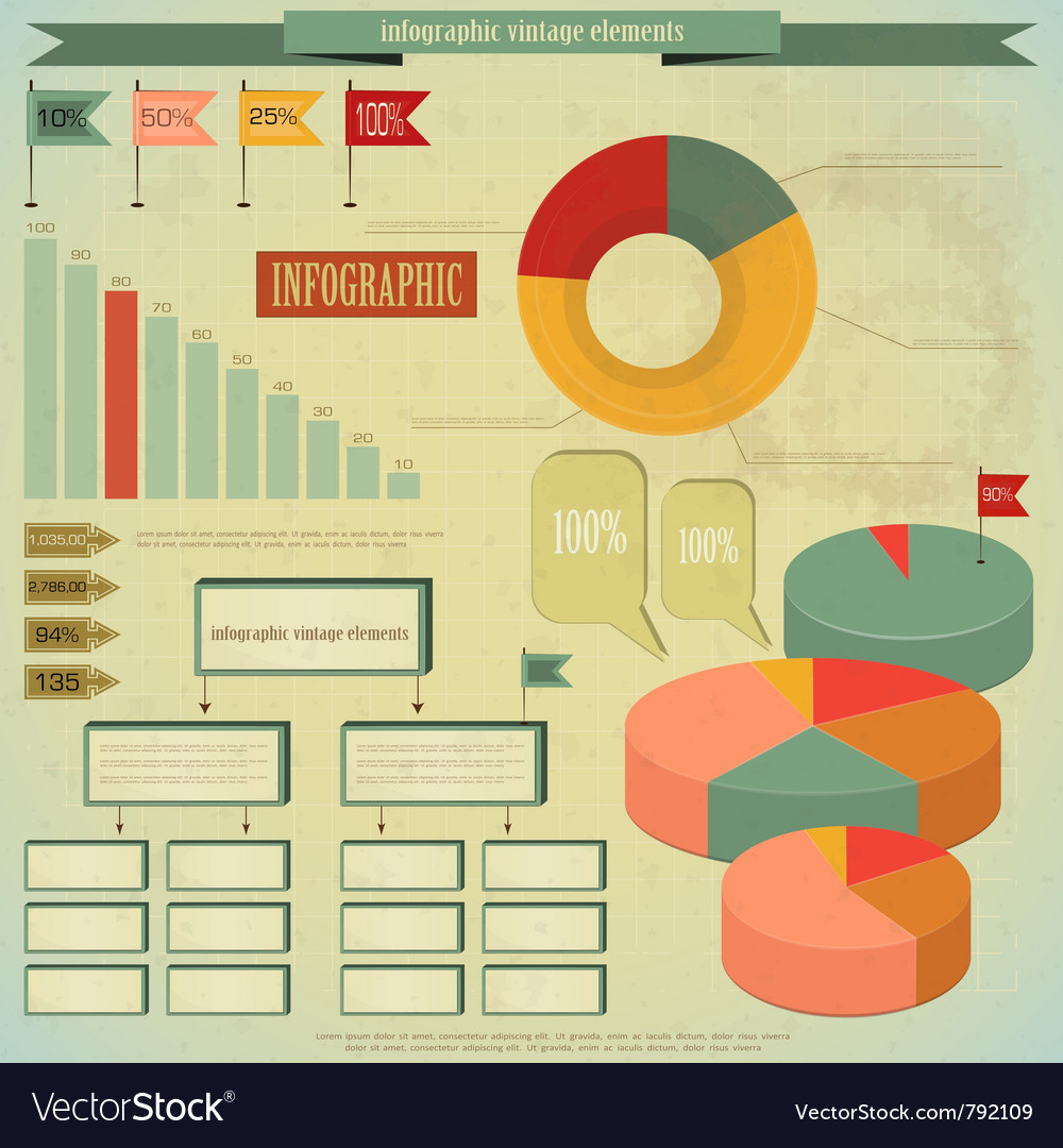 Vintage infographics vector | Price: 3 Credit (USD $3)