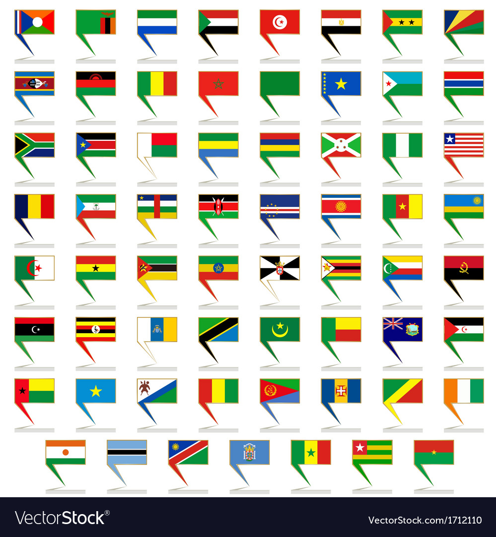 Badges with flags of africa vector | Price: 1 Credit (USD $1)