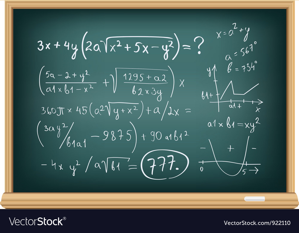 Board difficult equations vector | Price: 3 Credit (USD $3)