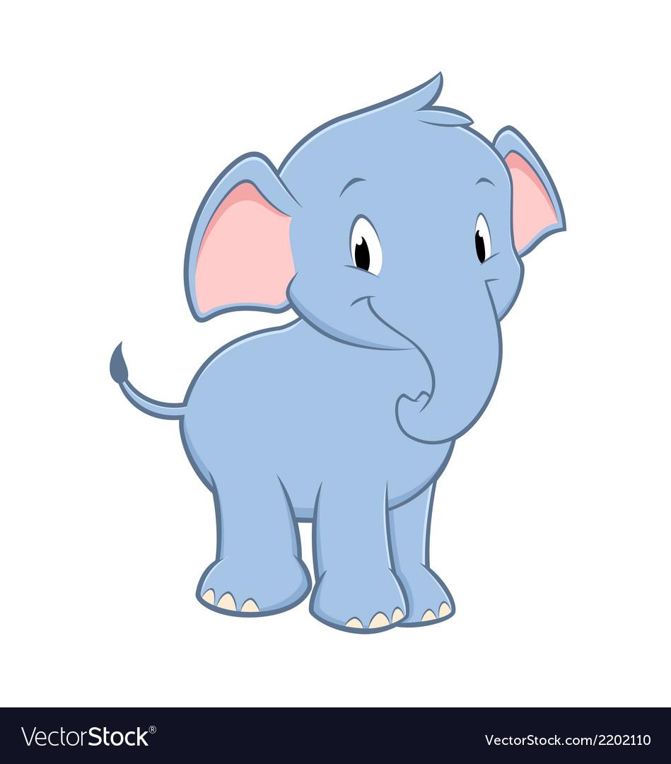 Cartoon baby elephant vector   Price: 1 Credit (USD $1)