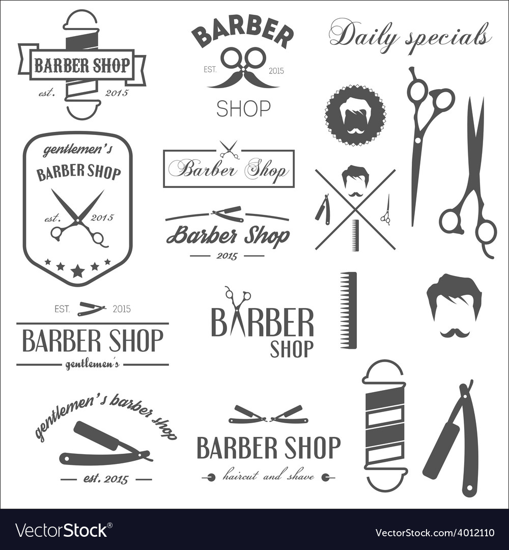 Collection of vintage retro labels logotypes and vector | Price: 1 Credit (USD $1)