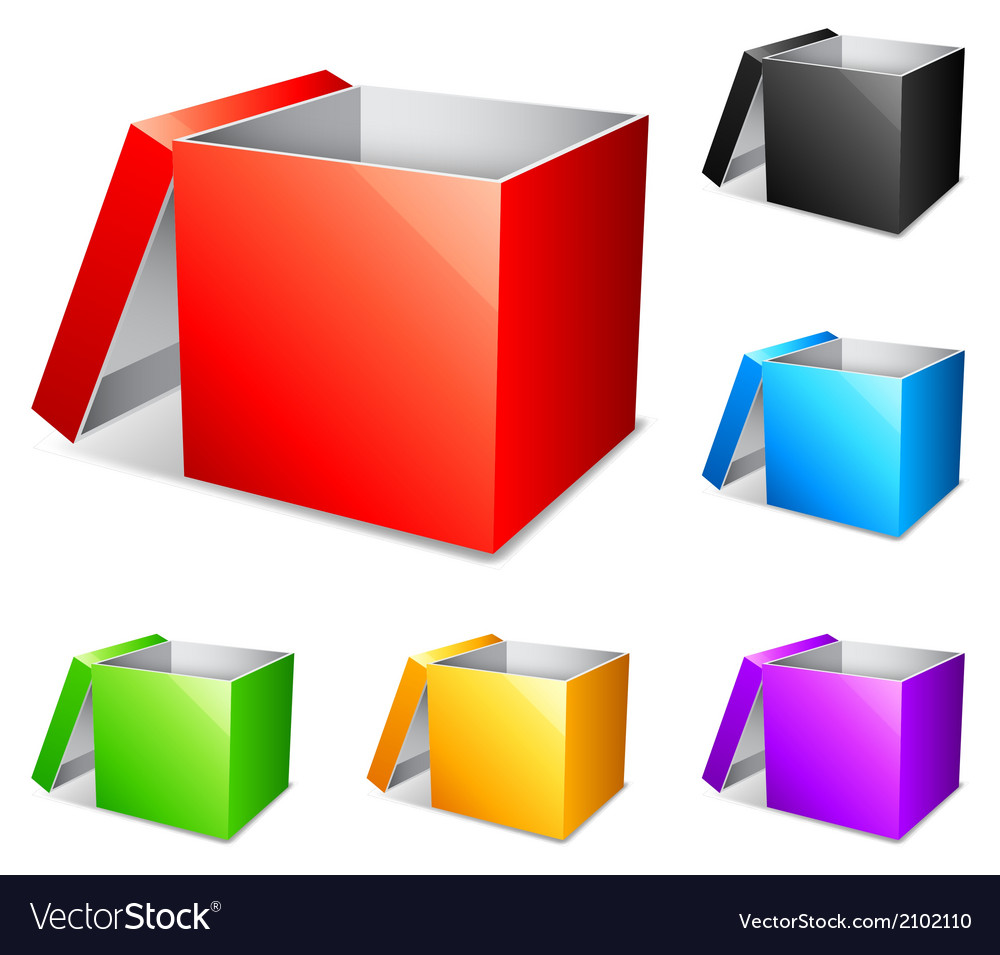 Color boxes vector | Price: 1 Credit (USD $1)