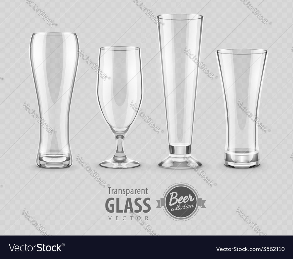 Glasses glasses for beer vector | Price: 1 Credit (USD $1)