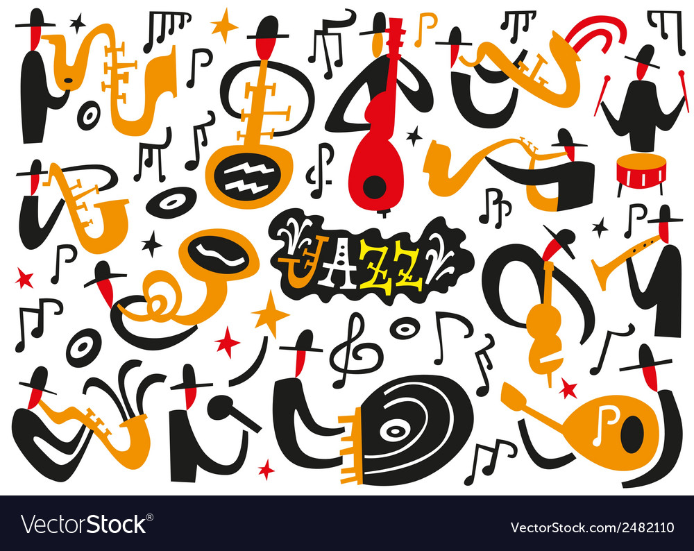 Jazz musicians vector | Price: 1 Credit (USD $1)