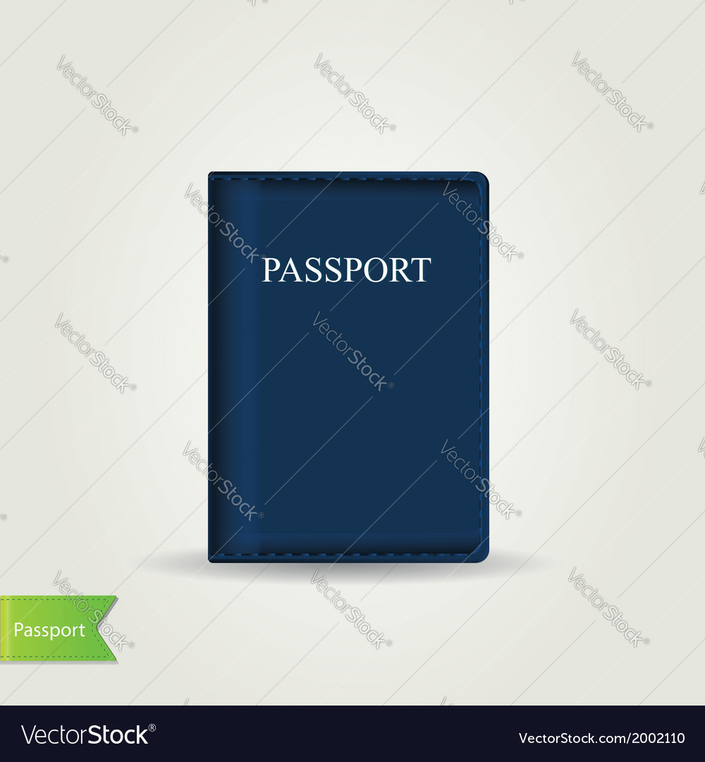 Passport cover isolated vector | Price: 1 Credit (USD $1)