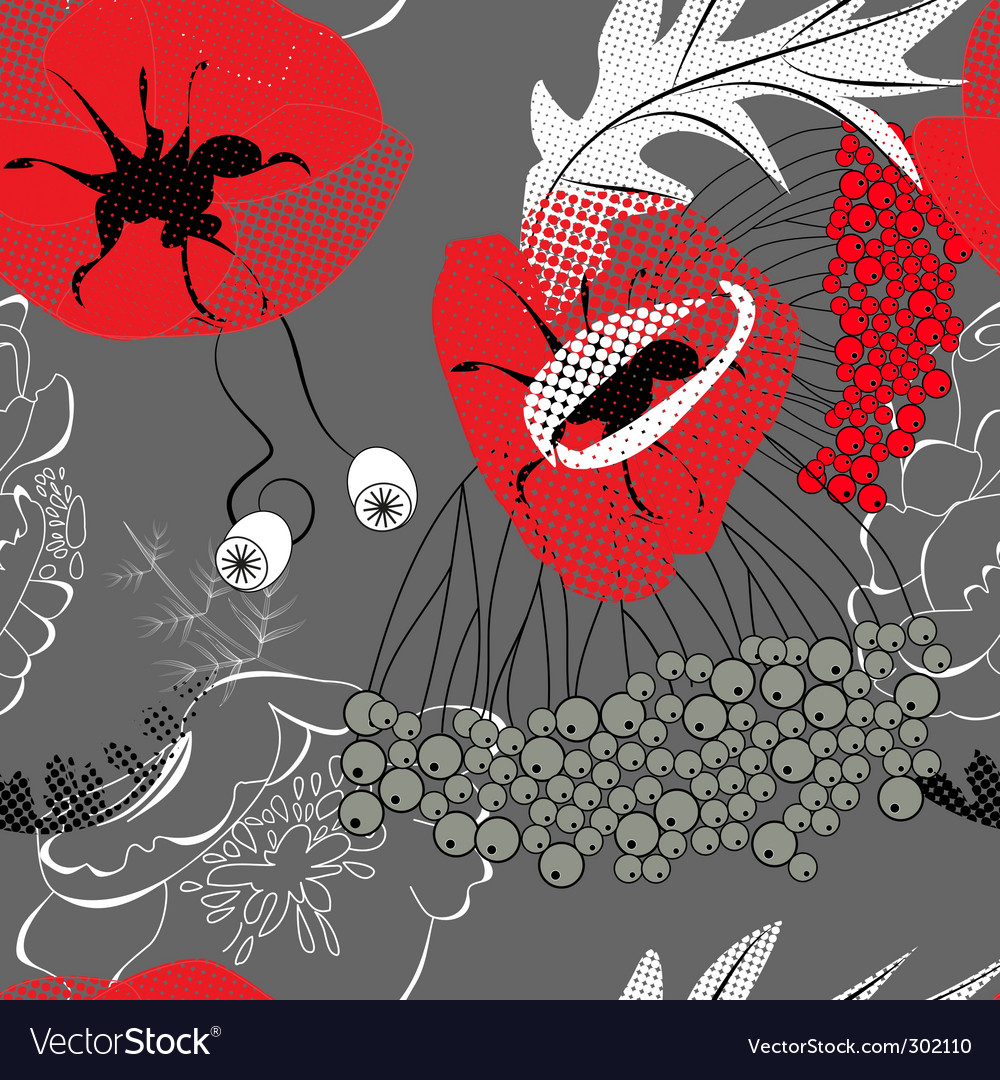 Red poppy flowers vector   Price: 1 Credit (USD $1)