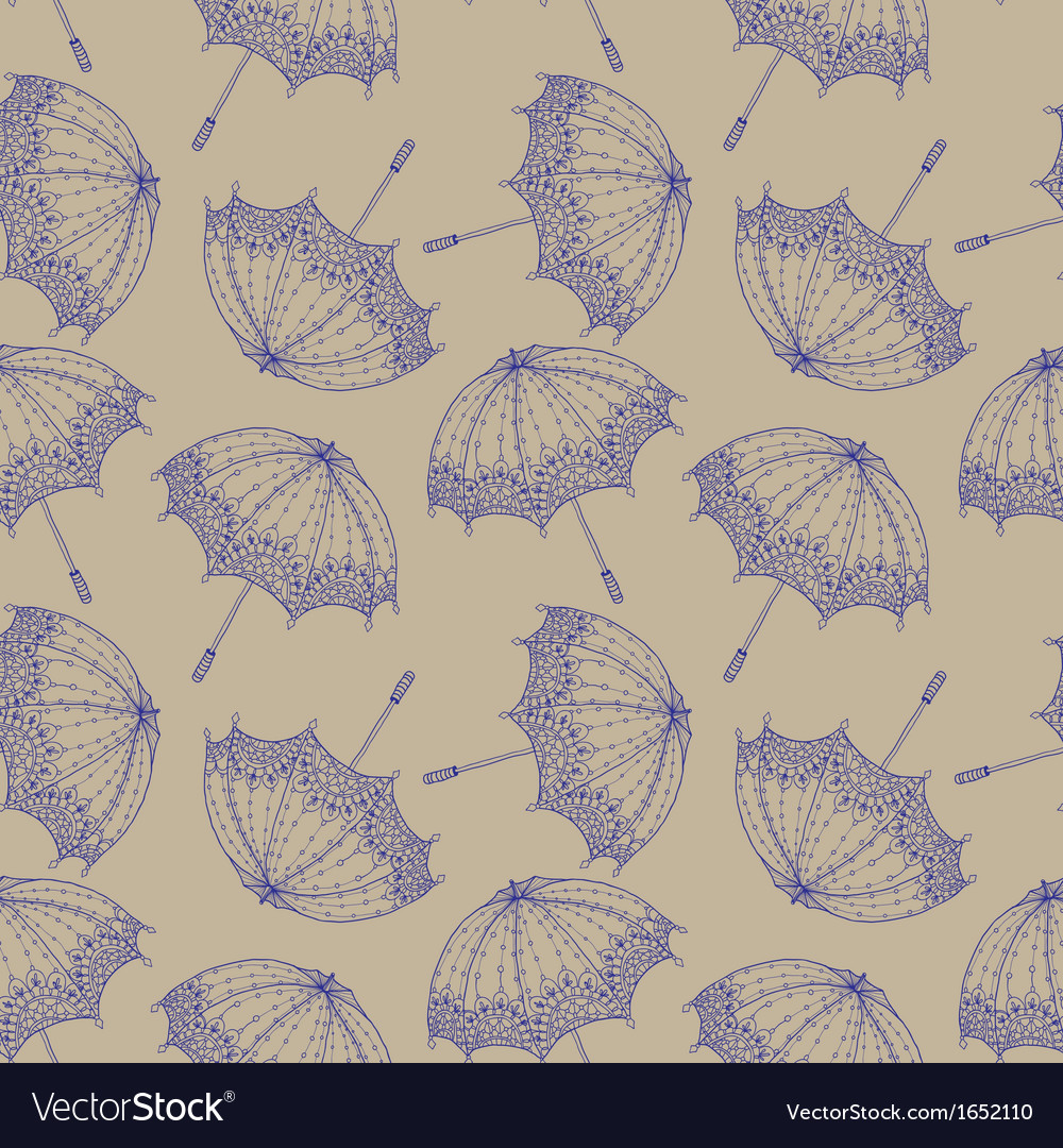 Seamless beautiful retro umbrella vector | Price: 1 Credit (USD $1)