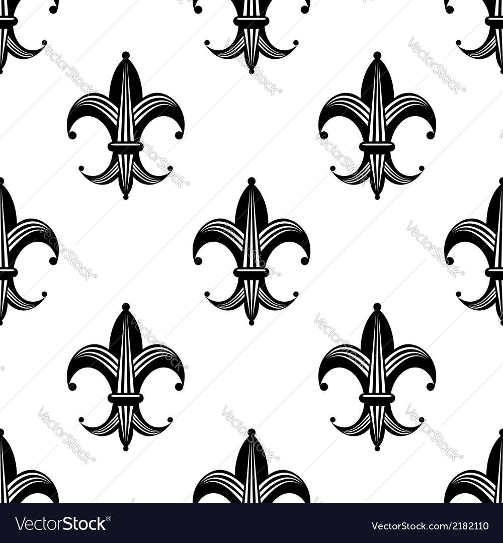 Seamless stylized fleur de lys pattern vector | Price: 1 Credit (USD $1)
