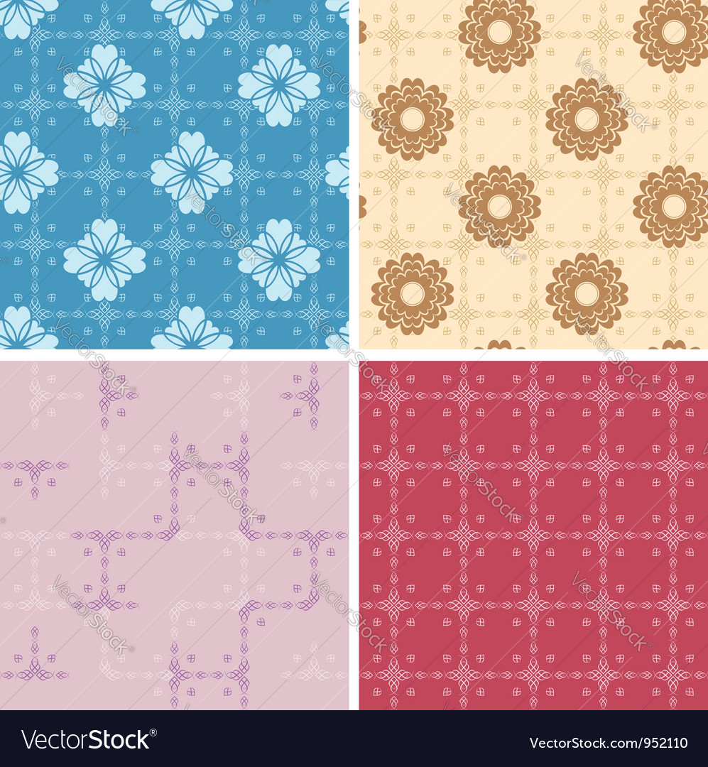 Set - color geometric patterns seamless vector | Price: 1 Credit (USD $1)