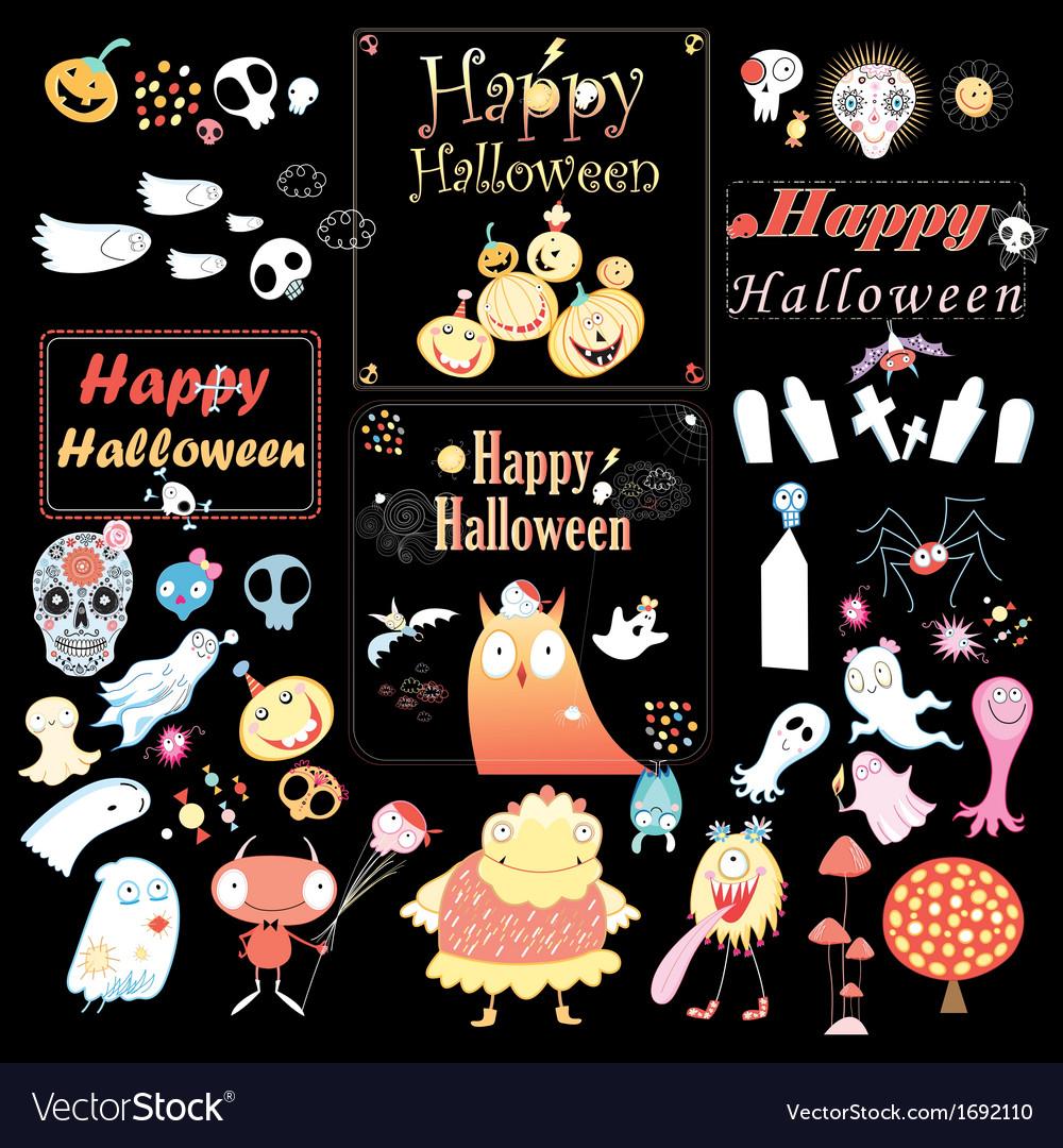 Set for halloween vector | Price: 1 Credit (USD $1)