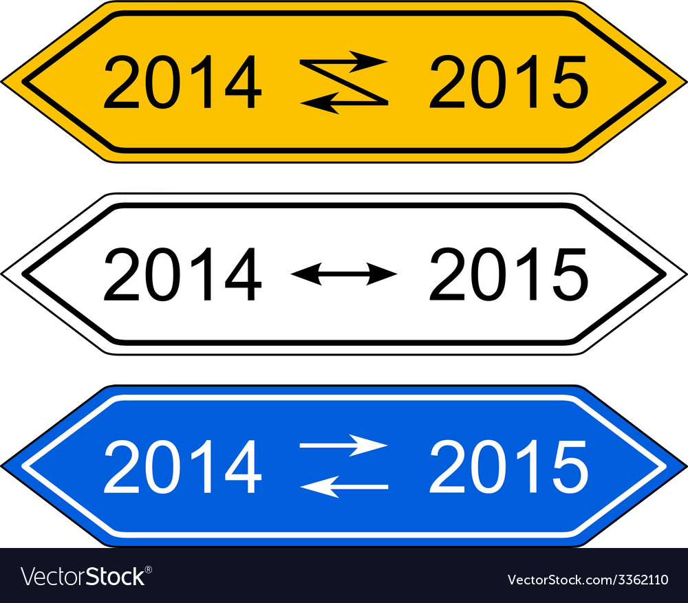 Signpost 2015 vector | Price: 1 Credit (USD $1)