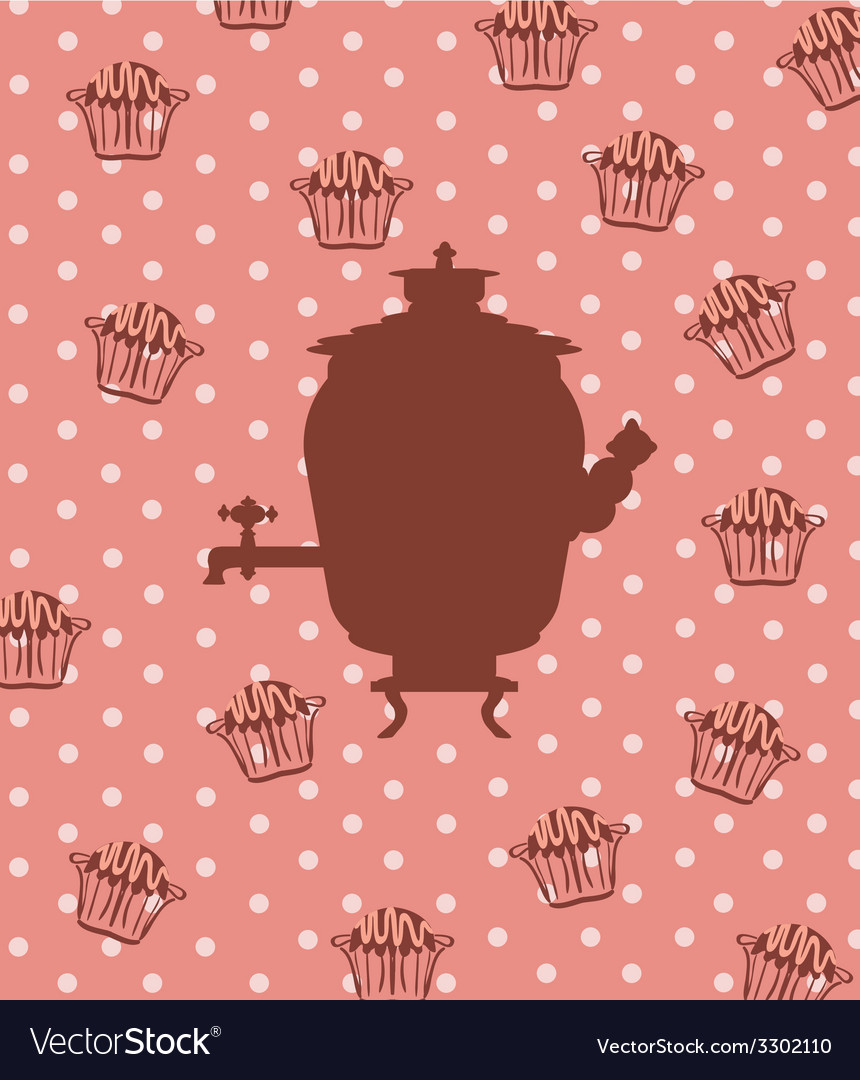 Silhouette of a russian samovar vector | Price: 1 Credit (USD $1)