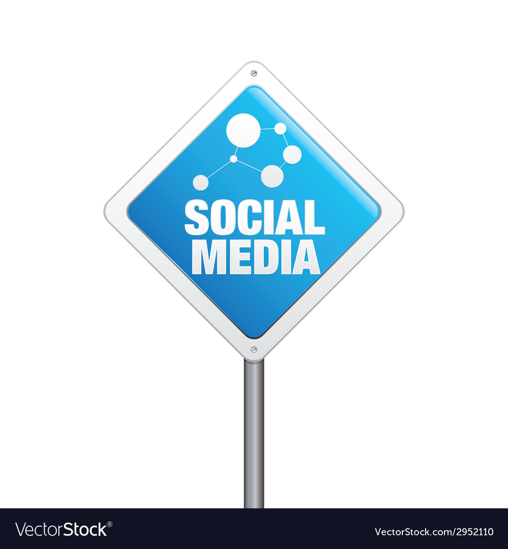 Social media sign vector | Price: 1 Credit (USD $1)