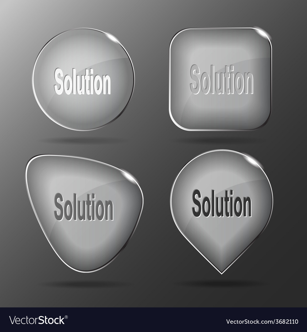 Solution glass buttons vector | Price: 1 Credit (USD $1)
