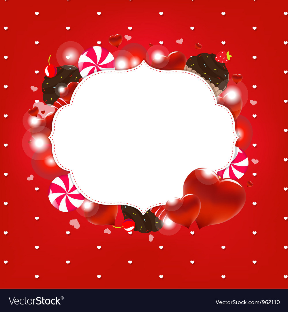 Sweet love heart frame vector | Price: 1 Credit (USD $1)
