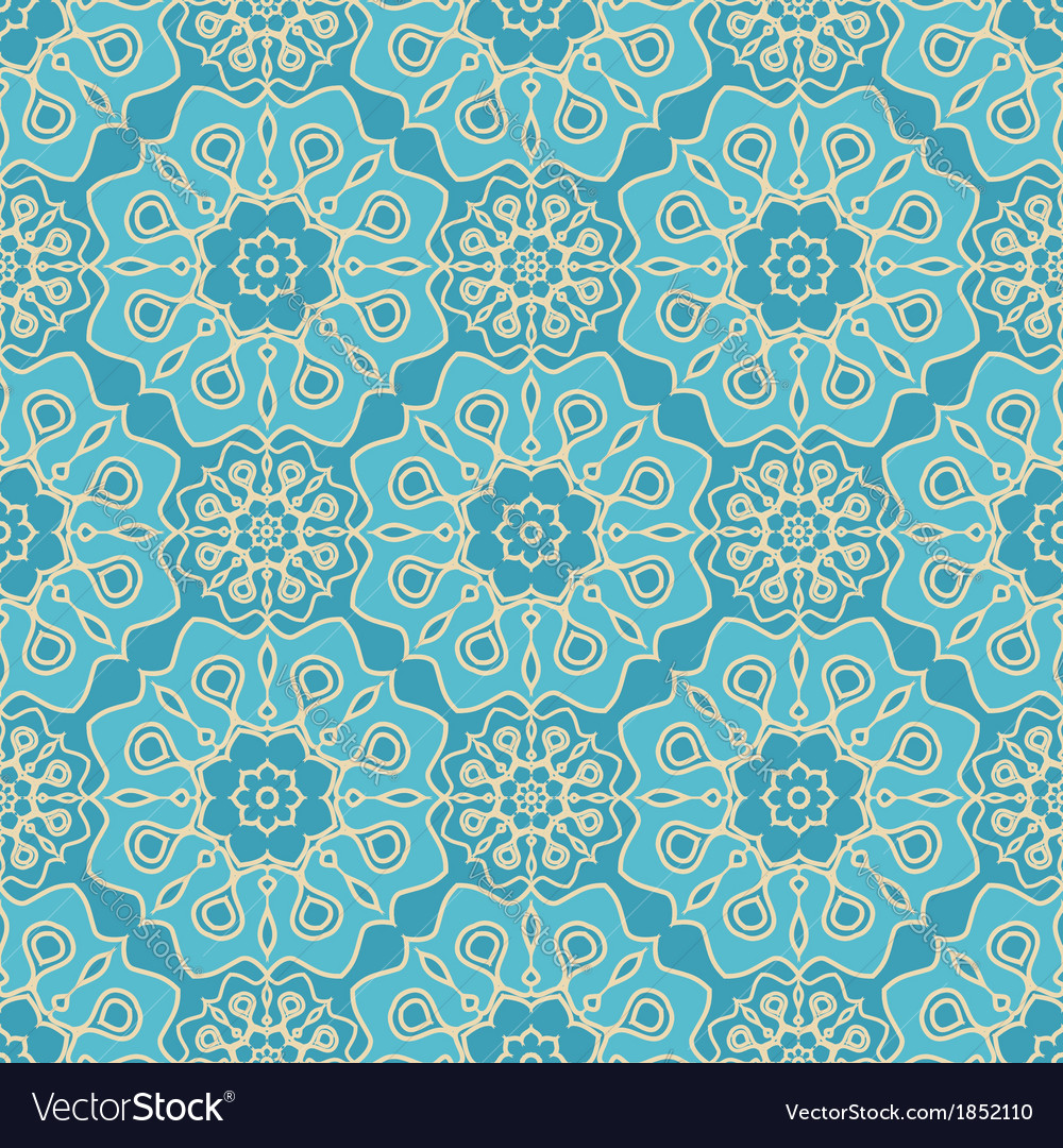 Turquoise seamless pattern vector | Price: 1 Credit (USD $1)