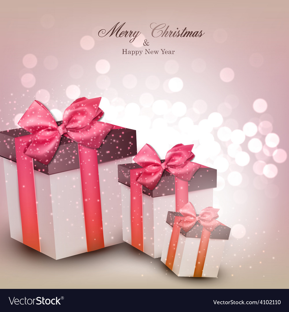 Vibrant christmas background with gift boxes vector | Price: 1 Credit (USD $1)
