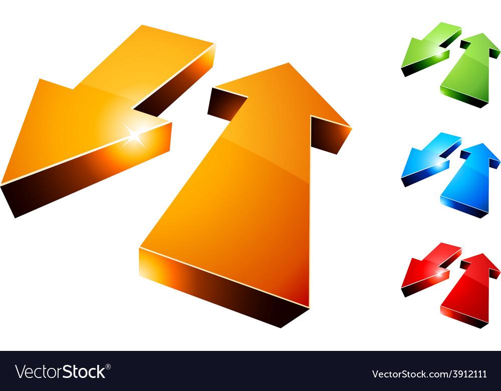 3d return arrows vector | Price: 1 Credit (USD $1)