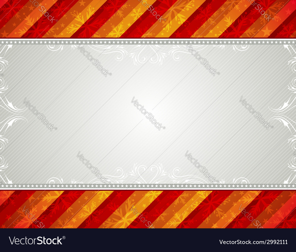 Christmas background with snowflakes and decorativ vector | Price: 1 Credit (USD $1)